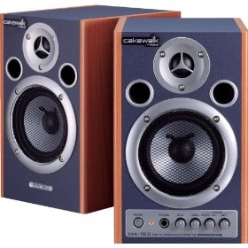 Cakewalk MA-15D Digital Stereo Micro Monitor Pair, Natural/Blue