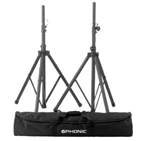 Phonic SK1 Two speaker stands and carry bag