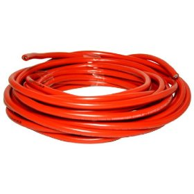 Brand New Monster Cable 25 Foot (Cut From a 250 Foot Spool) 8 Awg Red Power Wire -- Top of the Line Quality -- Pure Copper Wire -- Extremely Thick!!