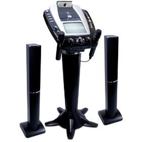 Singing Machine STVG-999 Pedestal Karaoke System with Tower Speakers, Camera, Monitor and Radio