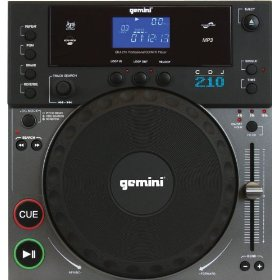 Gemini CDJ-210 Tabletop CD/MP3 Player