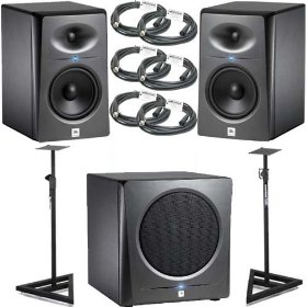 2 JBL LSR2325P Monitors + JBL LSR2310SP Bundle