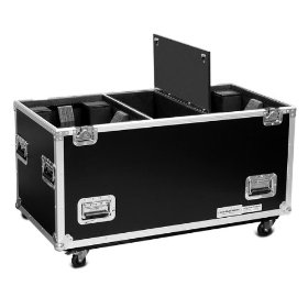 Marathon Flight Ready Case MA-2Mh575W Lighting Case To Hold 2 X Elation Power Spot 575 Or Any Similar Sized Moving Head with Caster Plate
