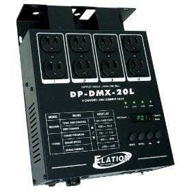 Elation control DP-DMX 20L Four Channel Dimmer Pack 600 Watts/ch