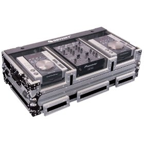 Odyssey FZ10CDIW Flight Zone Dj Coffin With Wheels For A 10 Mixer And Two Medium Format Cd Players