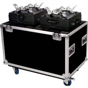 Marathon Flight Ready Case MA-2Mh250W Lighting Case To Hold 2 X Elation Power Spot 250, Design Spot Or Any Similar Sized Moving Head with Caster Plate