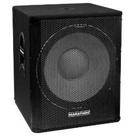 Marathon Entertainer Series ENT-118 Single 18-Inch Subwoofer System