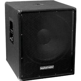 Marathon Junior Reinforcement Series JR-118 Compact Single 18-Inch Portable Subwoofer System