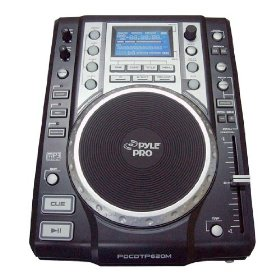 Pyle-Pro PDCDTP620M Professional DJ Table Top CD Player with Digital Media Support and LCD Display (MP3, USB)