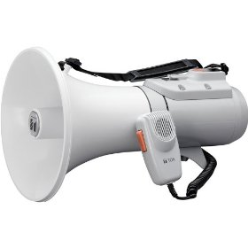 TOA ER-2215W Shoulder Megaphone Detachable Hand-Held Mic with Volume Control and OnOff Switch