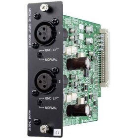 TOA D-921F Line Input Module 2 Channels, Equipped with XLR Connectors, 24 Bits AD Converter