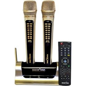 Magic Sing 18K (ET-18000) Karaoke System w/ 1596 Songs Built In No additional CD/DVD players required 2 Wireless Microphones and Remote