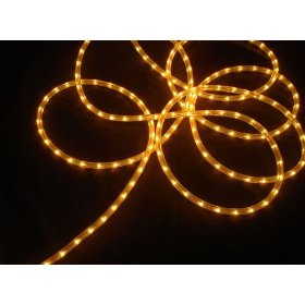 100' Gold Commercial Grade Christmas Rope Light On Spool