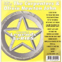 Olivia Newton John & Carpenters Karaoke Disc - Legends Series CDG Vol. 004