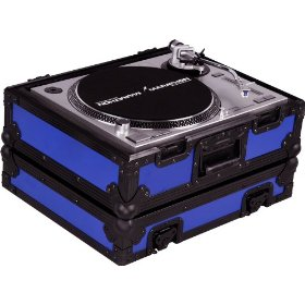 Marathon Flight Ready Black Series Case MA-1200Blkblue Heavy Duty Turntable Deluxe Case Fits Technics 1200 & Other Turntables (Blue)