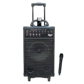 Pyle-Pro PWMA860I 500 Watt Rechargeable Portable VHF Wireless PA System with iPod Dock and Wireless Microphone
