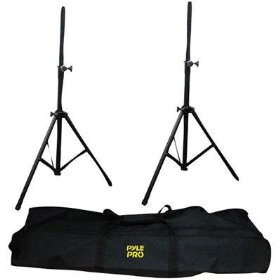 Pyle-Pro PSTK103 2x Heavy Duty Aluminum Speaker Stands with Travel Bag