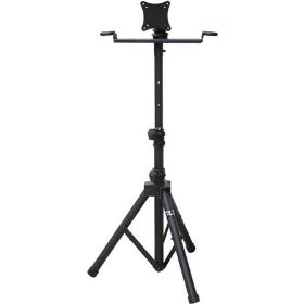 Audio 2k Ast-420y Flat Panel Lcd Tv/monitor Stand with Metal Mic Holders & Tripod Base