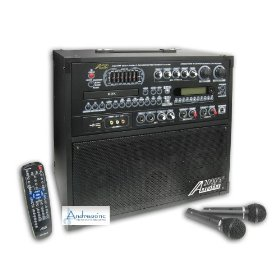 Audio 2000 AKJ7809 Singer's Power IX Recordable All-In-One Karaoke Machine / PA System