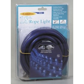 18' Blue Indoor/Outdoor Christmas Rope Light Decoration