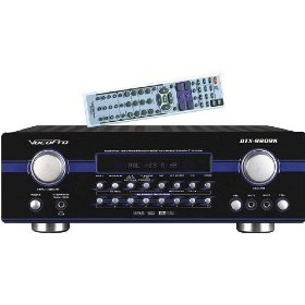 VocoPro DTX-9909 K 700W MAX 7.1 Surround Sound Receiver with Professional Karaoke DSP Processing
