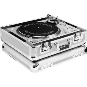 Marathon Elight Series MA-Ett Sil Turntable Case Holds 1 1200 Style Turntable Light Duty - Silver