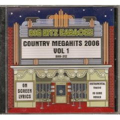 Big Hitz COUNTRY MEGAHITS 2006 Vol.1 Karaoke CDG MALE and FEMALE Hits
