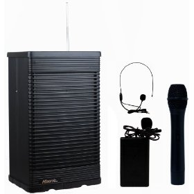 Hisonic HS321 Portable PA System with Wireless Microphone, Black