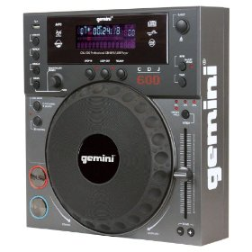 Brand New Gemini Cdj-600 Professional Table Top Cd Player with Cd/mp3/usb Capabilities and Built in Scratch Effect
