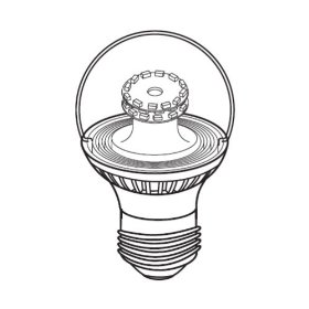 LED - 3 Watt - Dimmable G16.5 Decorative Globe - Medium Base - 120 Volt - Halogen White - TCP LDG163WH30K