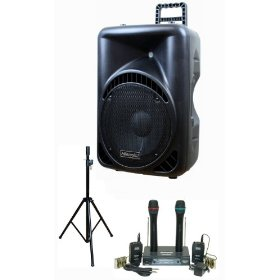 Hisonic PA-6541S 300-Watt Portable PA System with Dual VHF Wireless Microphone System