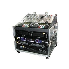 DJ CASE BLACK T-10MR 10 Space Mixer Club & DJ Rack