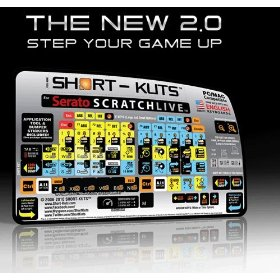 Short-kuts Professional Keyboard Sticker System for Serato Scratch Live 2.0
