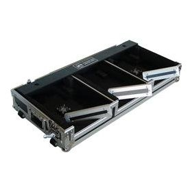 Eurolite DJ Coffin Case with Cooling Fans and Wheels, 12 inch