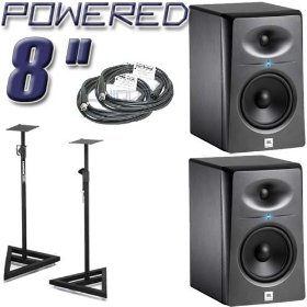2 JBL LSR2328P Monitors Bundle
