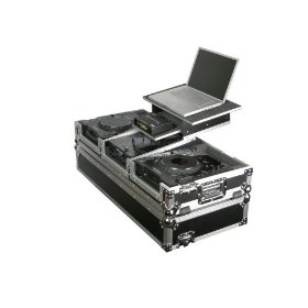Odyssey FZGS10CDJW Flight Zone Glide Style Ata Case With Wheels For A 10 Mixer And Two Large Format Cd Players