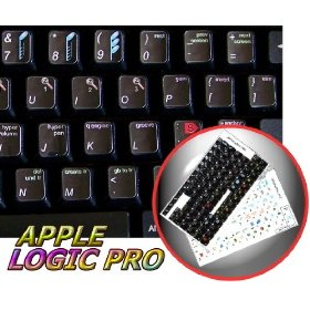 NEW APPLE LOGIC PRO (AUDIO EDITING) STICKER FOR KEYBOARD ON BLACK BACKGROUND