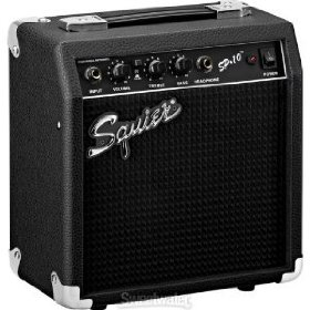 Fender(R) Squier(R) Portable Electric Guitar 10 Watt Practice Amplifier