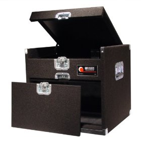 Odyssey CXG906 Carpeted Combo Rack With Recessed Hardware: 9u Top, 6u Bottom