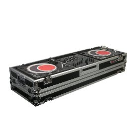 Odyssey FZDJ12W Flight Zone Ata Dj Coffin With Wheels For A 12 Mixer And Two Turntables In Standard Position