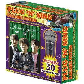 Plug N Sing MM205J DVD Plug 'N' Sing Microphone Karaoke System with Original Jonas Brothers Karaoke on DVD