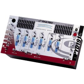 Pyle 19 Inch 4-CHANNEL Rack-mount Professional Mixer