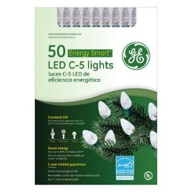 Santa's Best Craft Llc Ge97506cc Led C5 Crystal Ice Light Set - Warm White