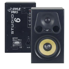Pyle-Pro - 6.5'' 350 Watt 2-Way Bass Reflex Amplified Studio Monitor Speaker