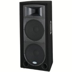 Samson RS215 Speaker 2-Way 15-In. Driver 350W-4937 Impedence Dual -In. 44MM - Black [Unknown Binding]