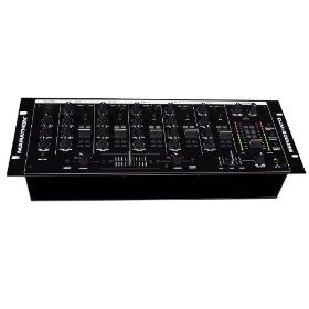 Marathon DJm-200USB 5-Channel 19-Inch Mixer, 2 USB Inputs for Computer, 8 Line Inputs, 3 Phono, 3 Mics, Eq On Each Channel