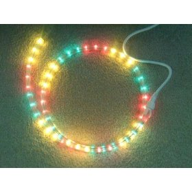 100 foot section of Green/Red/Yellow 9/16 inch rope light