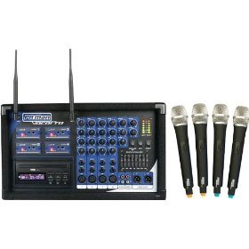 VocoPro PA MAN 4 Channel Wireless Microphone PA System