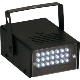 American DJ S-81 LED Powered Variable Speed Strobe Light