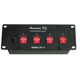 American DJ PC4 Four Channel Power Strip With Lighted Toggle Switches